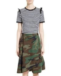 Harvey Faircloth - Ruffle Trim Sailor Stripe Tee - Lyst
