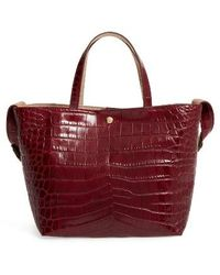 Elizabeth and James - Eloise Croc Embossed Leather Tote - Lyst