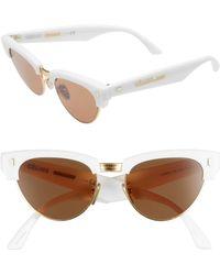 Céline - 51mm Modified Cat Eye Sunglasses - Shiny Ivory - Lyst