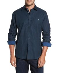 Bugatchi - Classic Fit Glen Plaid Sport Shirt - Lyst