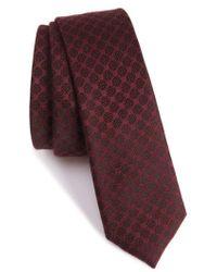 The Kooples | Checkerboard Jacquard Skinny Tie | Lyst