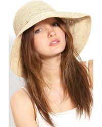 4e00503814d17 Lyst - Helen Kaminski  provence 12  Packable Raffia Hat in Brown