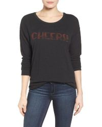 Signorelli - Cheers Graphic High/low Sweater - Lyst