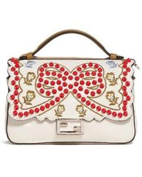 Fendi | Double Micro Studded Leather Baguette | Lyst