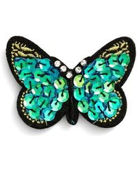 Cara | Sequin Butterfly Pin | Lyst