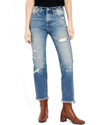Ayr - The Form Crop Straight Leg Jeans - Lyst