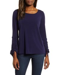 Chaus - Ruched Sleeve Top - Lyst