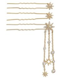 Jenny Packham - Set Of 3 Hairpins, Metallic - Lyst