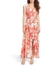 Eliza J - Surplice Obi High/low Dress - Lyst