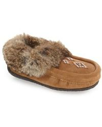 Manitobah Mukluks - Genuine Shearling And Rabbit Fur Mukluk Slipper - Lyst