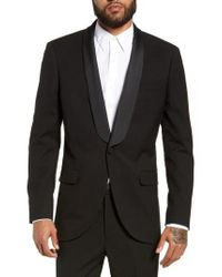 TOPMAN - Kingley Slim Fit Tuxedo Jacket - Lyst