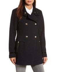 Vince Camuto - Wool Blend Military Coat - Lyst
