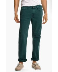 Earnest Sewn - 'fulton' Straight Leg Twill Pants - Lyst