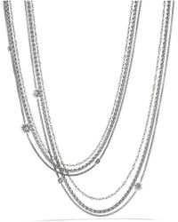David Yurman - 'starburst' Chain Necklace With Pearls - Lyst