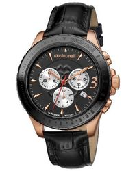 Franck Muller - Roberto Cavalli By Franck Muller Chronograph Leather Strap Watch - Lyst