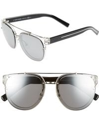3ff8d357bd Lyst - Dior Homme Black Tie 211s 52mm Mirror Sunglasses in Brown for Men