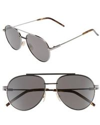 Fendi - 51mm Round Aviator Sunglasses - Lyst