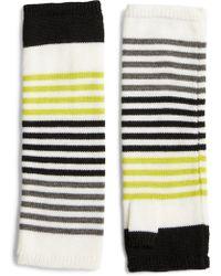 Eileen Fisher - Stripe Fingerless Gloves - Lyst