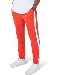 TOPMAN - Side Tape Skinny Fit Jogger Pants - Lyst