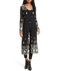 Alice + Olivia | Stara Embroidered Lace Caftan | Lyst
