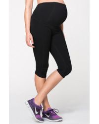 Ingrid & Isabel - Ingrid & Isabel Knee Length Active Maternity Pants With Crossover Panel - Lyst