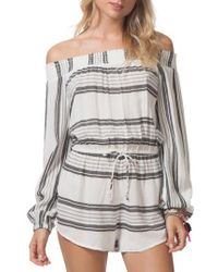 Rip Curl - Soulmate Off The Shoulder Romper - Lyst