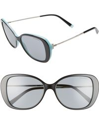 76330b195e45 Tiffany   Co. - Tiffany T 55mm Gradient Butterfly Sunglasses - Lyst