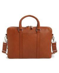 Shinola - Signature Leather Briefcase - Metallic - Lyst