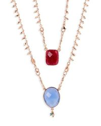 Gas Bijoux - Scapulaire Convertible Semiprecious Stone Necklace - Lyst