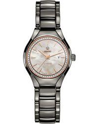 Rado - True Automatic Diamonds Ceramic Bracelet Watch - Lyst