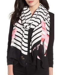 Kate Spade | Off We Go Oblong Twill Scarf | Lyst