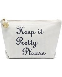 Draper James - Keep It Pretty Please Canvas Pouch - Lyst