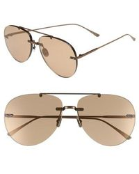 Bottega Veneta - 63mm Aviator Sunglasses - Brass/ Beige - Lyst