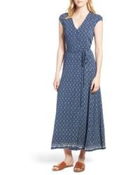 Lucky Brand - Lucky Border Print Maxi Dress - Lyst