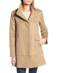 Fleurette - Stand Collar Cashmere Coat - Lyst