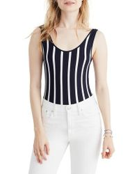 Madewell - Stripe Scoop Back Bodysuit - Lyst