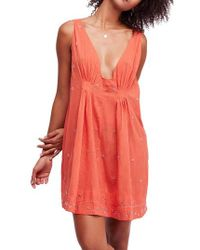 Free People - Crushin' On You Beaded Minidress - Lyst