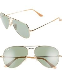 6609540390f7d Ray-Ban  clubmaster  49mm Polarized Sunglasses in Green - Lyst