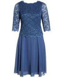 Alex Evenings - Mock Two-piece Tea Length Dress - Lyst