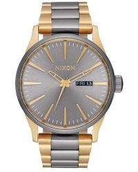 Nixon - 'the Sentry' Bracelet Watch - Lyst