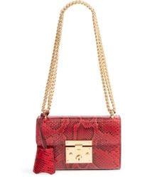 Gucci - Small Padlock - Genuine Python Shoulder Bag - - Lyst