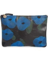 Clare V. - Belle Embroidered Leather Flat Clutch - Lyst