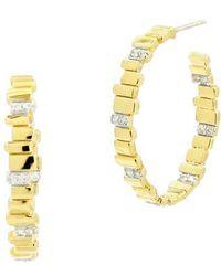 Freida Rothman - Radiance Cubic Zirconia Hoop Earrings - Lyst