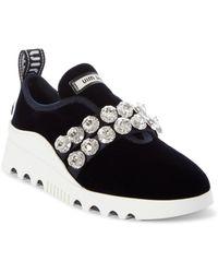 Miu Miu - Jewel Strap Slip-on Sneaker - Lyst