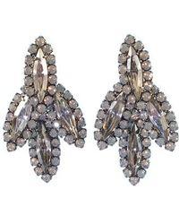Elizabeth Cole - Peite Becall Crystal Drop Earrings - Lyst