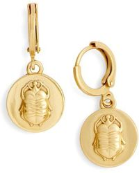 Vince Camuto - Scarab Charm Museum Drop Earrings - Lyst
