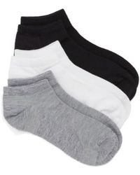 Zella - Fitness 3-pack Liner Socks, Grey - Lyst