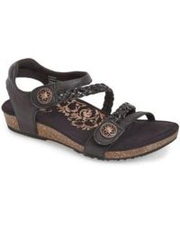 Aetrex - 'jillian' Braided Leather Strap Sandal - Lyst