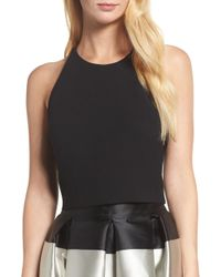 Eliza J - Cross Back Crepe Crop Top - Lyst