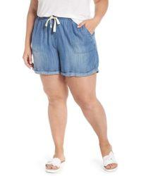 Caslon - Caslon Drawstring Chambray Shorts - Lyst